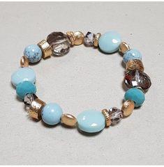 Bracelet perles métal et turquoise