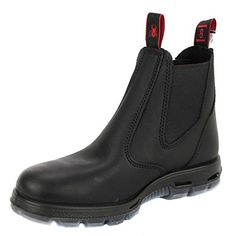 Redback Mens Bobcat UBBK BLACK Elastic Sided Soft Toe Leather Leather Work Boot -- Click image for more details. (This is an Amazon affiliate link)