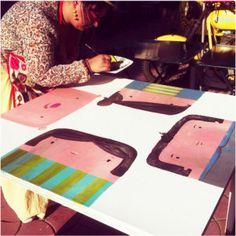 illustrating live on bistro table