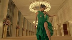 Margaret Qualley Lets Loose in a Green Gown in Crazy Kenzo World Ad by Spike Jonez