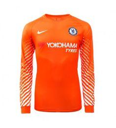 Billiga Chelsea Målvakt Hemmatröja 17-18 Långärmad Stamford, Chelsea Fc, Yokohama, Manchester United, Premier League, Wetsuit, Sweatshirts, Swimwear, Sweaters