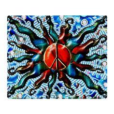 #Peace Sun 2014 (c) Throw #Blanket - #PeaceSun #OriginalDesign #KCoJax #FlawnOcho #CafePress
