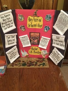 Harry Potter reading fair board