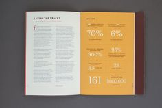 Nicole and Mike McQuade: Pullman Foundation Annual Report. Nice use of typography & infographics.