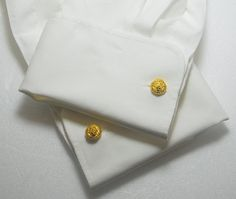 King Lion Cufflinks Gold Overlay Sterling Silver King Lion