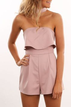 Lisbon Playsuit Blush