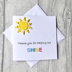 Sewn By Sarah, handmade with love, for those you love. by TheSewnbySarahShop Greeting Cards For Teachers, Teachers Day Greetings, Teacher Thank You Cards, Teachers Day Gifts, Thank You Cards From Kids, Your Teacher, Teacher Gifts, Thank You For Teachers, Handmade Teachers Day Cards