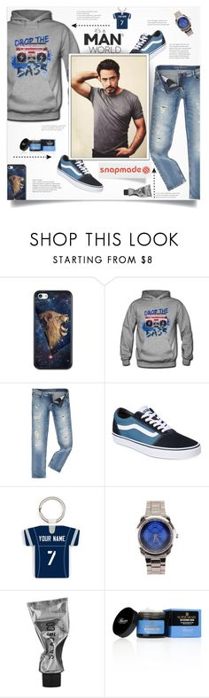 """Snapmade 4"" by smajlovicelvira ❤ liked on Polyvore featuring Calvin Klein, Vans, Baxter of California, men's fashion and menswear"