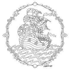 The sneak peek for the next Gift of The Day tomorrow. Do you like this one? #fantasy #ship ••••••••••• Don't forget to check it out tomorrow and show us your creative ideas, color with Color Therapy: http://www.apple.co/1Mgt7E5 ••••••••••• #happycoloring #giftoftheday #gotd #colortherapyapp #coloring #adultcoloringbook #adultcolouringbook #colorfy #colorfyapp #recolor #recolorapp #coloring #coloringmasterpiece #coloringbook #coloringforadults