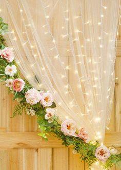 Warm White Wedding Curtain Lights - 147 Bulbs - 5.9 x 6' #weddingvenues