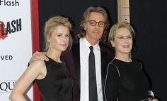Actress Mamie Gummer musician/actor Rick Springfield and actress Meryl Streep attend the 'Ricki And The Flash' New York premiere at AMC Square Theater on August 3, 2015 in New York City