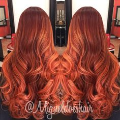 💥💥 RG 💥 💥Fun project using Hair Color And Cut, New Hair Colors, Orange Brown Hair, Copper Hair, Copper Ombre, Latest Hair Trends, Love Hair, Pretty Hair, Magic Hair