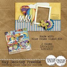May Desktop Freebie- Digital Scrapbooking Blog