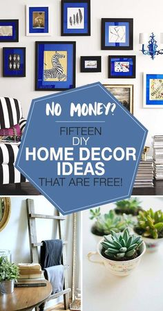If your home decor is in need of updating, but your bank account is feeling pain, no worries. Adding style to your home decorating can be easy, fast and free. Here are 15 creative DIY home decor ideas to bring personality to any room, without spending any cash! #homedecor #diyhomedecor #homedecorideas #diyhomedecorideas #freedecorideas #zerodollardecorating #diy Home Improvement Projects, Home Projects, Craft Projects, Diy Bamboo, Diy Coffee Table, Diy Home Crafts, Diy Room Decor, Home Decor, Home Repair
