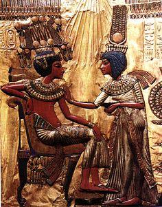 King Tutankhamen and Akhensenamun--my favorites BEFORE the Mummy movie series--first heard of them at WMU, art history
