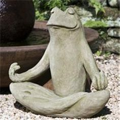 Totally Zen Garden Frog. ---I love, love, LOVE this!!! My mom collected frogs. I SO need this in my garden!! The above statement isn't from me - but I love the look on this frog's face. Yummm flies!