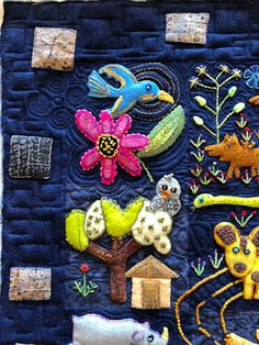 Sue Spargo Folk Tails Custom Quilted #suespargo #folktails Custom Quilts, Free Motion Quilting, Quail, Folk, Inspiration, Biblical Inspiration, Popular, Quails, Forks