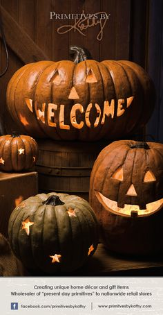 Decorative pumpkins for your Halloween Decor.