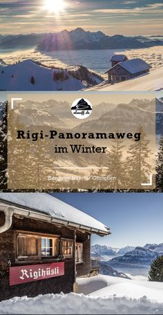 Der Rigi-Panoramaweg im Winter - als nuff! Travel Around The World, Around The Worlds, Switzerland Tour, Reisen In Europa, Grand Tour, Alps, Countryside, Hiking, Explore