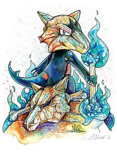 Pokemon Print Alolan Marowak Variant by SarahOIllustration