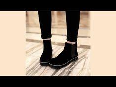 รองเท้าบูทสั้น แฟชั่นเกาหลีหุ้มข้อเท่มาก นำเข้า ไซส์34ถึง43 สีดำ - พรีออเดอร์RB2192 ราคา1450บาท - YouTube