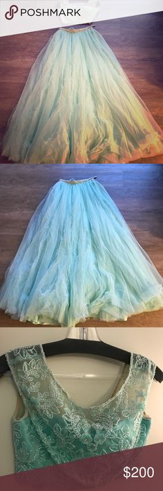 Sherri Hill 2-piece Prom Dress Light blue two piece dress size 2 from Sherri Hill! I have only worn it once, and got it dry cleaned. In very good condition! Sherri Hill Dresses Prom