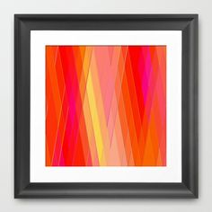 Re-Created Vertices No. 22 #Framed #Art #Print by #Robert #S. #Lee - $35.00