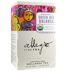 Queen Bee Balance Tea (what I am drinking right now).
