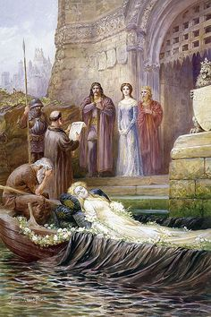 """...he said, """"She hath a lovely face.  God in his mercy lend her grace.  The Lady of Shallot."""""""