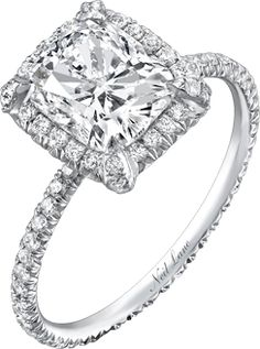 Well IF... i change my mind somehow off of the GOLD ring i want (which I am not) I have ALWAYS WANTED THIS RING, EXACT AS IS.. CUSHION CUT.. Love this by,Neil Lane