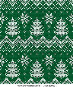 65 Ideas For Crochet Afghan Patterns Christmas Yarns Fair Isle Knitting Patterns, Knitting Charts, Afghan Crochet Patterns, Knitting Yarn, Crochet Squares Afghan, Cross Stitch Alphabet, Cross Stitch Embroidery, Cross Stitch Patterns, Christmas Yarn