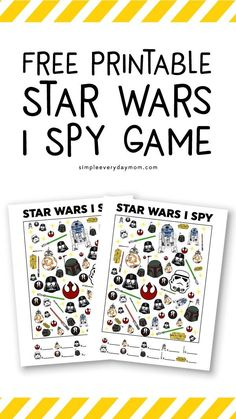 Star Wars FREE Printable I Spy Game To Occupy The Kids Looking for the perfect Star Wars activity for your kids that will keep them occupied? Then this Star Wars free printable I Spy is it! Just print it out, grab a pen and you're all set. Star Wars I, Star Wars Gifts, Star Wars Party, Party Activities, Activities For Kids, Airplane Activities, Wedding Activities, Creative Activities, Educational Activities