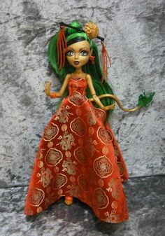 Dragon gown for monster high dolls by moonsight68 on Etsy, $20.00