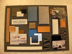 1000 images about sample boards on pinterest presentation boards cinema and interior design for What is a sample board in interior design