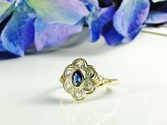 Antique Rose Cut Diamond Engagement Ring by LadyRoseVintageJewel