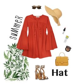 """H A T"" by miss32sarah ❤ liked on Polyvore featuring Gucci, New Look, Rachel Zoe, Bobbi Brown Cosmetics, MAKE UP FOR EVER and summerhat"
