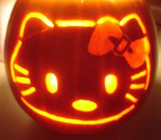 Hello Kitty Jack O Lantern