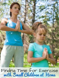 Moms, are you having trouble fitting exercise into your day? Think you're too busy with your children? Take a look at these tips and take care of yourself. #happynewme #cbias