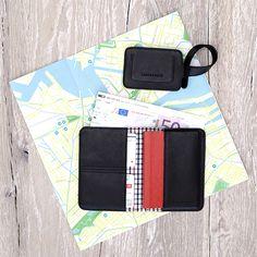 Passport Organizer & Luggage Tag Black - LOST & FOUND accessoires