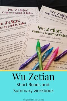 Wu Zetian was the only woman to rule China in her own right yet she is often skipped in high school history classes. Also, like most other women in history, courses that do focus on her only focus on the myths and legends that portray her as violent and hateful. Incorporate her in your world history or Asian history classes. Consider learning about her during Women's History Month. This is a Common Core aligned TpT lesson that focuses on history skills.