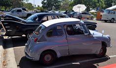 Photo Booth Killer: 1967 Subaru 360, so small it fits in a pickup truck bed