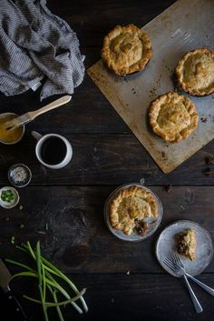 Shanghainese red-cooked pork pot pies.