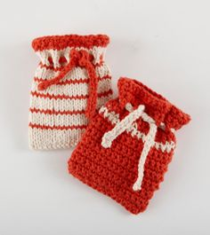 Free Knit & Crochet Pattern: Knit And Crochet Soap Bags...or bags for something else :)
