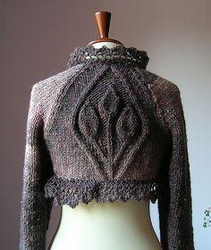kurze graue Jacke mit Muster