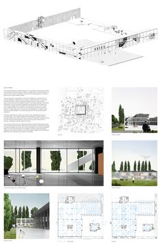 Competition Asks Young Architects to Transform Abandoned Factory into Cultural Center paneel layout render isometrie presentatie