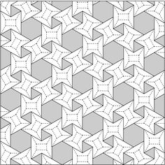 3.6.3.6 flagstone tessellation, Crease Pattern