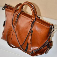 Ladies Purse Oiled Leather Messenger Bag