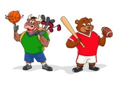 Bull & Bear Bowser, Paintings, Bear, Drawings, Fictional Characters, Paint, Painting Art, Bears, Sketches
