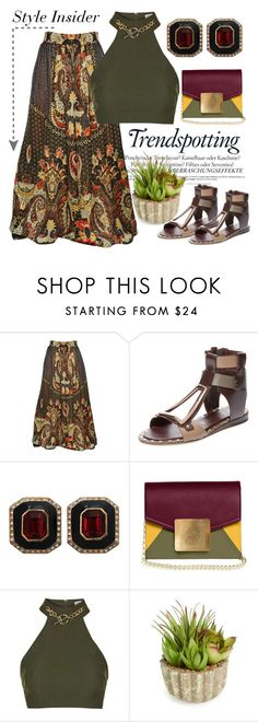 """Luncheon Date"" by pixidreams ❤ liked on Polyvore featuring Melissa, Etro, Ivy Kirzhner, Ciner, Dareen Hakim, Topshop and Allstate Floral"