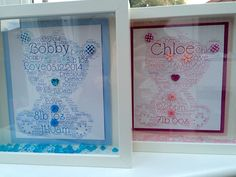 Baby Boy & Girl personalised frames. Personalised Frames, Nail Technician, Baby Boy, Boys, Home Decor, Baby Boys, Decoration Home, Room Decor, Senior Boys